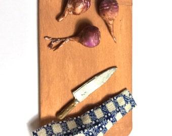 Two Artisan Turnip ~ Miniature Food ~ Dolls House Miniatures