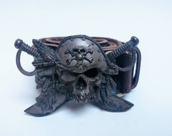 Ugo Cacciatori silver pirate belt