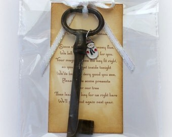 Santa Magic Key Father Christmas Key Gift Idea Christmas Decoration Stocking Filler