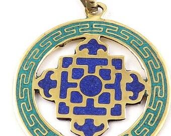 PENDANT Tibetan Buddhist dorje vajra, Buddhist jewelry, tibetan jewels abt23.1