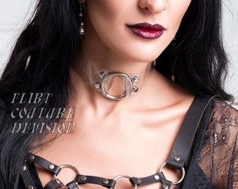 Clear PVC Collar with Large Buckle Transparent Collar Large O'Ring