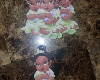 Baby Princess Tiana Candy Apple Topper Apple Topper Cupcake Topper Centerpiece Pick Disney Princess Princess and the Frog Min Order of 6