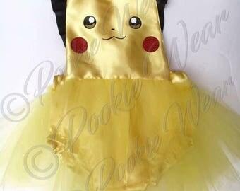 Pokemon costume, pikachu costume, pikachu dress, halloween outfit, pokemon, first halloween outfit, pikachu
