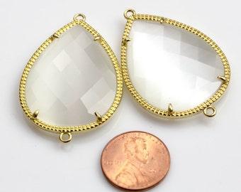 Gold Bezel Crystal TEARDROP 29*43mm 1 pc