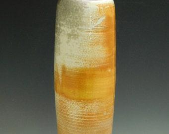 Soda Fired Vase-Porcelain, Flowers
