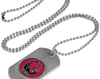Central Washington Wildcats Stainless Steel Dog Tag Necklace