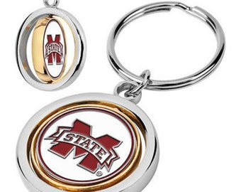 Mississippi State Bulldogs Spinner Keychain