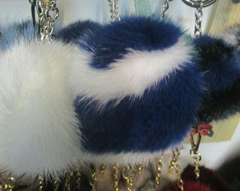 Spring offer! Buy TWO and get a THIRD one for free! New Excellent Quality MINK Pompom keyrings in many colors!