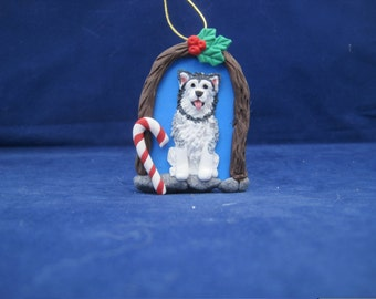 Unique Alaskan Malamute Christmas Ornament by K9 Kreations
