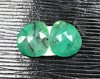 Rose Cut Natural Emerald Slices