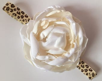 Peony Flower Headband.  Newborns to Toddlers. For Any special occassion. 100% Handmade