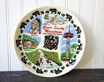 Great Smoky Mountains - North Carolina & Tennessee Souvenir Plate