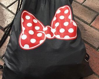 Disney Mickey Minnie Drawstring Bag Backpack Family Trip