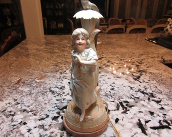 GIRL FIGURAL LAMP with Shade