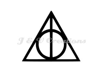 Deathly Hallows Decal | HP-inspired Decal | Harry Potter Decal