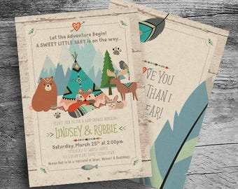 boho woodland animals baby shower invitation the adventure begins boho bay shower boho forest