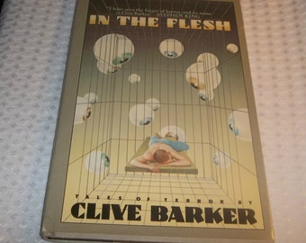 CLIVE BARKER In The Flesh Hardcover Horror Book 1986 Short Stories author of Books Of Blood Hellraiser Stephen King related