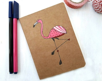 Flamingo Travelers Notebook, Midori Inserts, Midori Notebook, Passport book, Mini Journal, Small Journal, Travelers Journal, Midori Planner