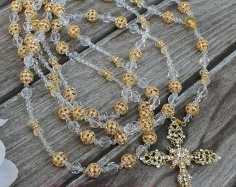 FAST SHIPPING!! Beautiful Gold Wedding Lasso, Crystal Unity Cord