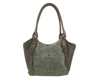 Sunsa woman Shopper Handbag canvas bag shoulder bag Artno.: 51763