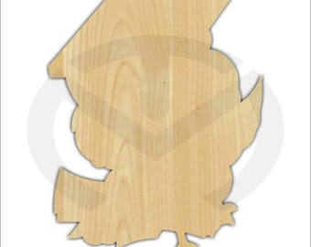 Unfinished Wood Graduation Owl Laser Cutout, Wreath Accent, Door Hanger, Ready to Paint & Personalize, Various Sizes