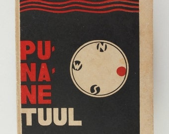 1928 Estonia Avant Garde Cover LAARMAN book PUNANE TUUL by Mait Metsanurk