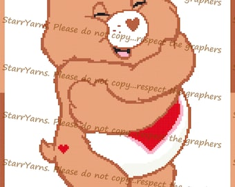 Cuddle Bear Crochet Graph Pattern