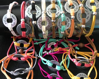 Inspiration bracelets!!!   Washer bracelets!  Any word... totally customized!! What's your thought?!