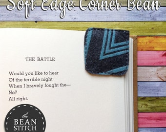 Soft Edge Corner Bean!  TWO Sizes Included!!! Bookmark Corner Book Mark Page Keeper