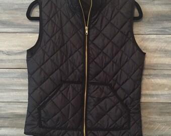 Monogram Vest, Quilted Vest, Puffy Vest, Vest *free shipping *