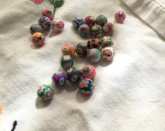 75-10mm Polymer Clay Beads