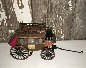 Vintage Overland Stage Coach solid state radio