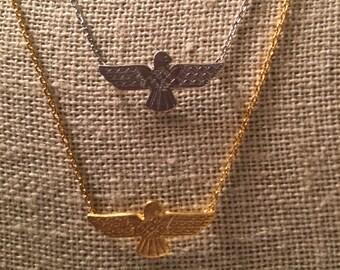 Thunderbird necklace, eagle necklace, bird