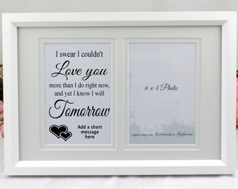 Personalised Love Typography Frame - Valenitines / Anniversary