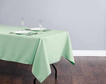 60 x 102 inch Rectangular Mint Green Tablecloth Polyester   Wedding Tablecloth