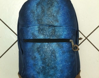 "Hand-painted Backpack w/ Original ""GalactiChasm"" Design"