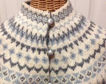 Vintage Sweater, Norwegian Wool Sweater by WILLIAM SCHMIDT of Oslo Handmade