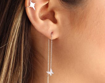 North Star Ear Cuff / Orb Ear Cuff