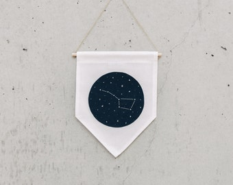 URSA MAJOR - Wall Banner, Constellation, Wall Hanging, Wall Decor. Size M.