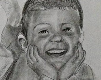 Custom portrait drawing from your photo. 25% Sale! Your memories come to life again in Nica's exquisitely detailed portraits.