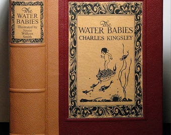 c.1925 ~ THE WATER BABIES ~ by Charles Kingsley, Colour Plates by Jessie Willcox Smith, Restored & Rebound in Leather