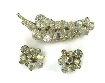 Juliana Clear Rhinestone and Crystal Demi Parure