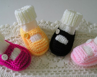 Baby Sock Shoes , Mary Jane Sock Shoes , Baby Shoes with Socks , Baby Girl's Pumps , Baby Girl's Bootees , Infant Shoes , Slippers 0-3 mths
