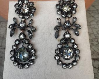 1820s Georgian Rosecut Diamond Earrings