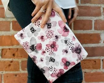 Wristlet - Coin purse - Clutch - Wristlet clutch - Handbag - Summer clutch - Bridesmaid Gift - Gift for her