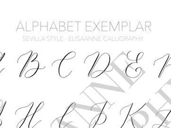 Modern Calligraphy Exemplar Pdf Download Sevilla Style