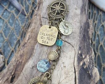 Wanderlust Rearview Mirror Accessory - Coastal Accessory - Ocean Love - Car Jewelry