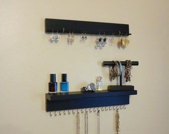 Jewelry Organizer - Jewelry Storage - Necklace Organizer - Earring Holder - Bracelet Holder - 3 Piece Set - 20 Display Hooks - Other Colors