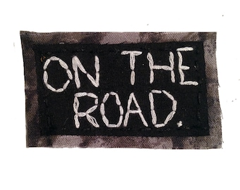 ON THE ROAD || World Map Patch Punk Patch Jean Jacket Patch Iron-On Patches Hip Bag | Travel Gifts Iron On Patch | Gifts for travelers