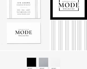 Pre-Made Branding Kit - Logo Design - Business Cards - Pattern Design - Fashion Branding